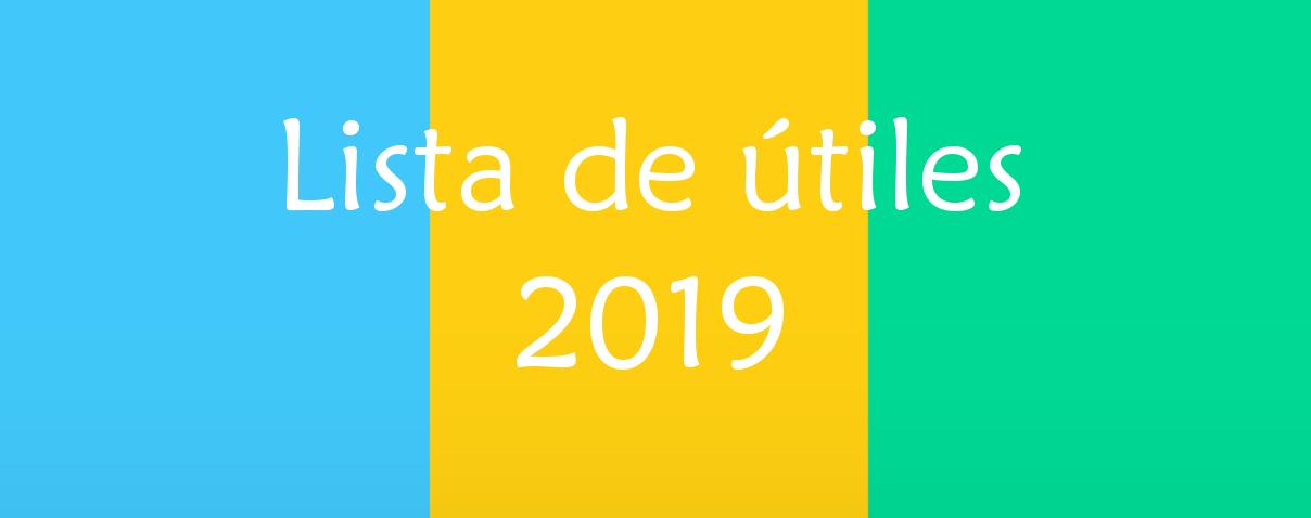 Lista de útiles 2019