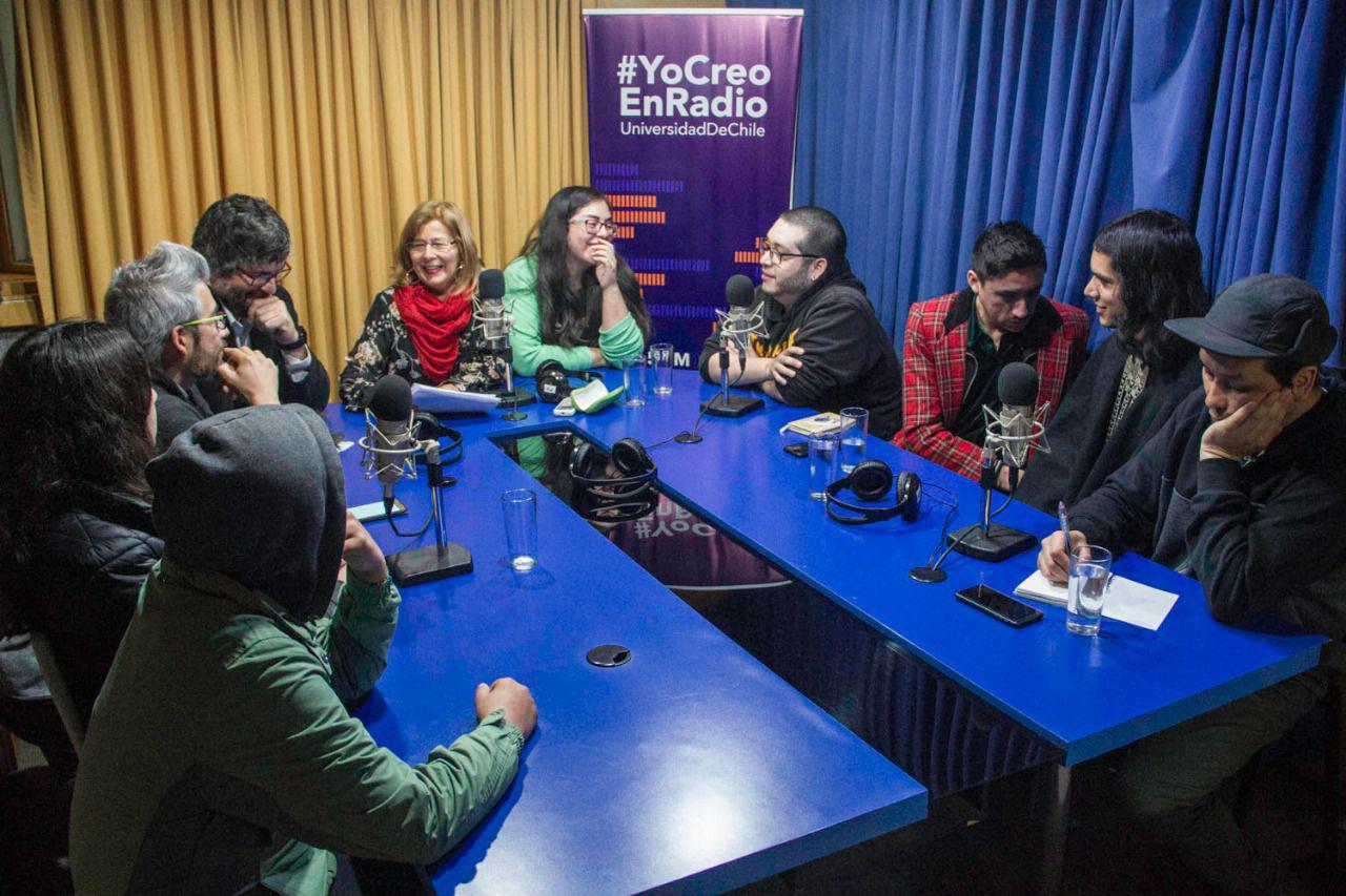 Visita a Radio Universidad de Chile