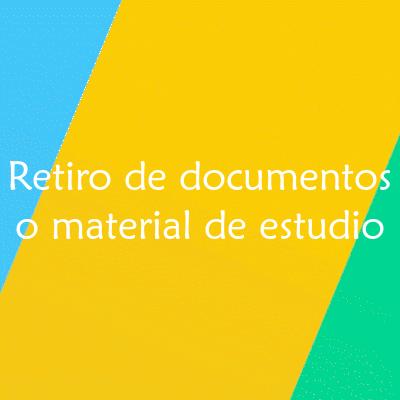 Formulario para retiro de documentos o material